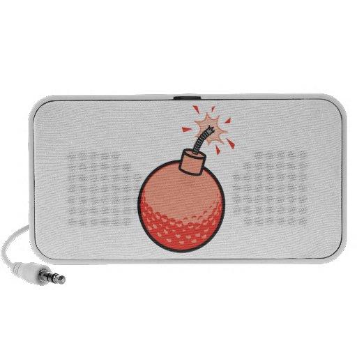 bomba divertida de la pelota de golf iPod altavoces