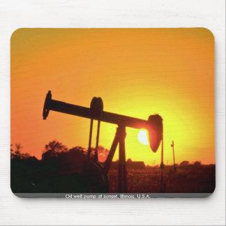 Bomba en la puesta del sol Illinois los E E U U Alfombrilla De Raton