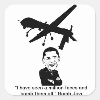 Bomba Jovi del abejón de Obama aka Calcomania Cuadrada Personalizada