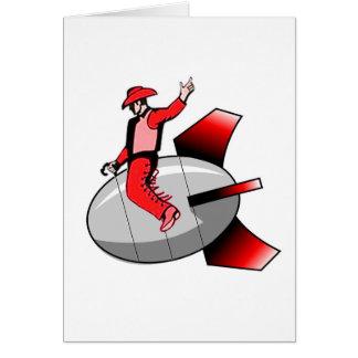 Bomba nuclear que monta tarjeta de felicitación
