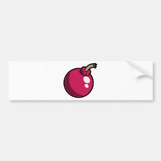 Bomba rosada brillante del dibujo animado pegatina para auto