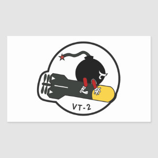 BOMBA VT-2 PEGATINA RECTANGULAR