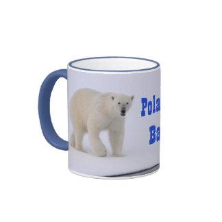 Bombacho cariñoso del bebé del oso polar taza de dos colores