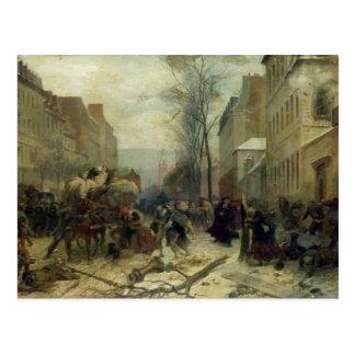 Bombardeo de París en 1871 Tarjeta Postal