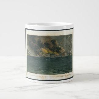 Bombardeo del fuerte Sumter por curtidor y Ives Taza Grande