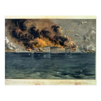 Bombardeo del fuerte Sumter Tarjeta Postal