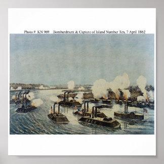Bombardeo y captura de la isla número diez poster