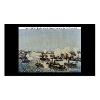 Bombardeo y captura de la isla número diez tarjetas de visita