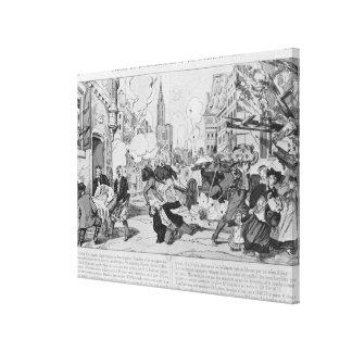 Bombardeo y cerco de Estrasburgo Impresión En Lona
