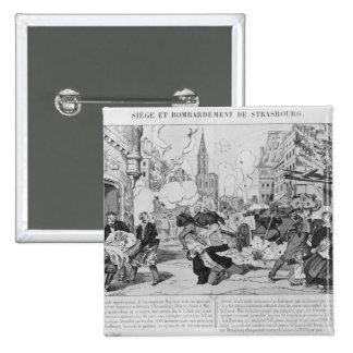 Bombardeo y cerco de Estrasburgo Pin Cuadrada 5 Cm