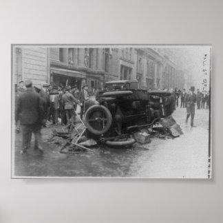 Bombardeos New York City NY 1920 del anarquista Póster