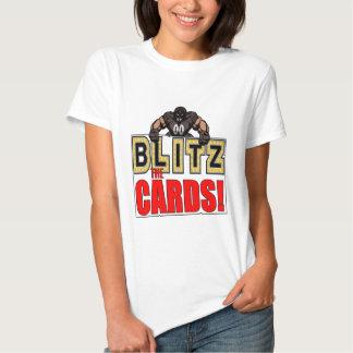 Bombardeos para mujer la camiseta de las tarjetas playera