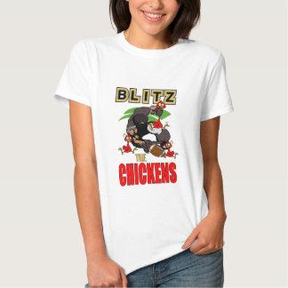 Bombardeos para mujer la camiseta de los pollos remeras