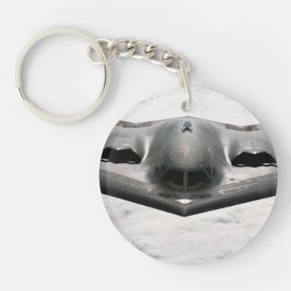 bombardero b-2 llavero redondo acrílico a una cara
