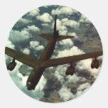 Bombardero B-52 Pegatina Redonda