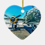 Bombardero de B-25 Mitchell Adorno De Cerámica En Forma De Corazón