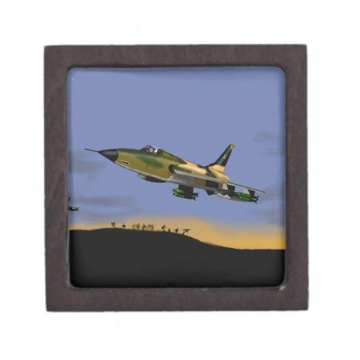 Bombardero de combatiente de Thunderchief F105 Caja De Recuerdo De Calidad