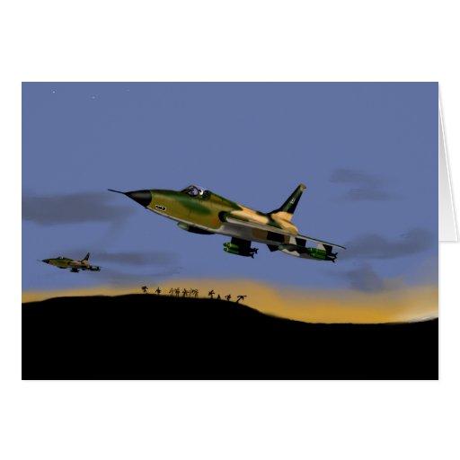 Bombardero de combatiente de Thunderchief F105 Tarjeton