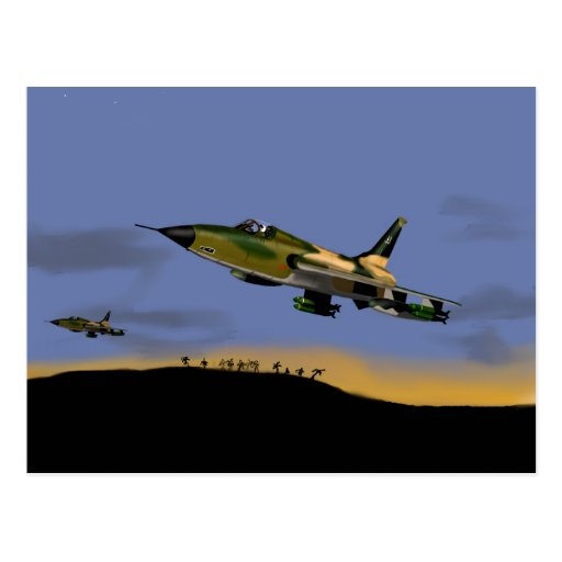 Bombardero de combatiente de Thunderchief F105 Postales