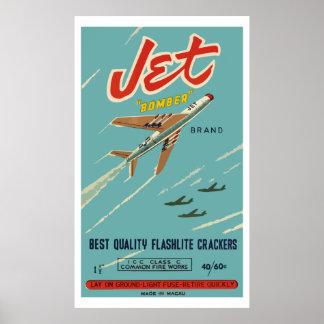 Bombardero de jet (petardo chino del vintage) poster