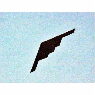 Bombardero de la cautela de los aeroplanos fotoescultura vertical