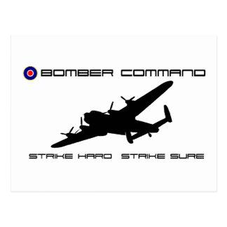 Bombardero de Lancaster - comando del bombardero Postales
