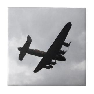Bombardero de Lancaster de arriba Azulejo Cuadrado Pequeño