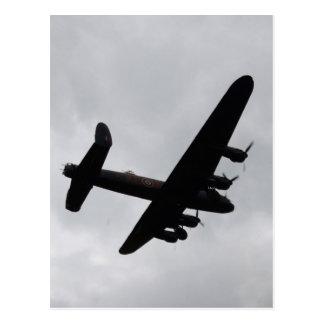 Bombardero de Lancaster de arriba Postales