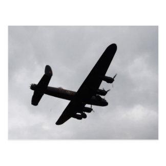 Bombardero de Lancaster de arriba Tarjeta Postal