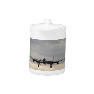 Bombardero de Lancaster de detrás