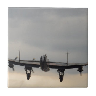 Bombardero de Lancaster de detrás Azulejo Cuadrado Pequeño