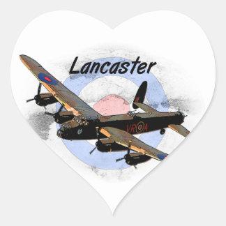 Bombardero de Lancaster Pegatina En Forma De Corazón