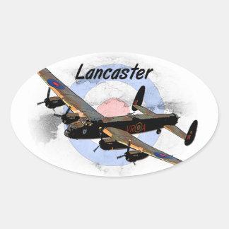 Bombardero de Lancaster Pegatina Ovalada