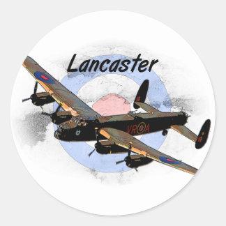 Bombardero de Lancaster Pegatina Redonda