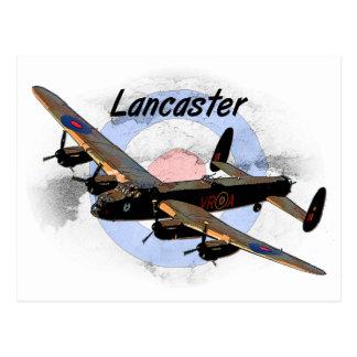 Bombardero de Lancaster Tarjeta Postal