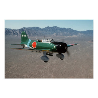 Bombardero de zambullida de Val del japonés Póster