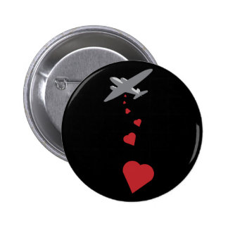 Bombardero del corazón - haga la guerra del amor n pins
