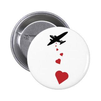 Bombardero del corazón - haga la guerra del amor n pin