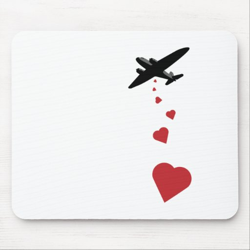 Bombardero del corazón - haga la guerra del amor n tapete de ratón