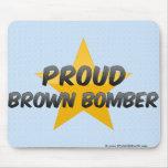 Bombardero orgulloso de Brown Alfombrilla De Ratón