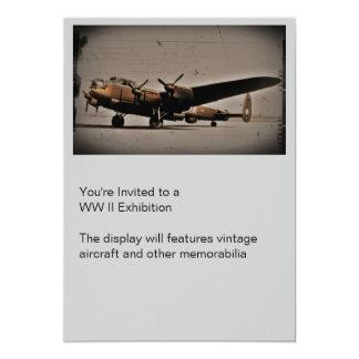 """Bombardero pesado británico invitación 5"""" x 7"""""""
