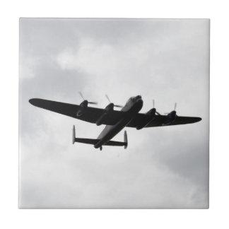 Bombardero pesado de Lancaster Azulejo Cuadrado Pequeño