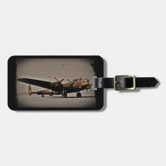 Bombardero pesado de Lancaster Etiquetas De Equipaje
