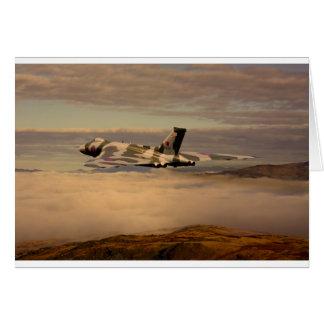 Bombardero XH558 de Avro Vulcan Felicitación