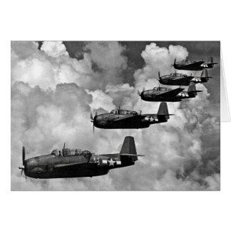 Bombarderos del torpedo del vengador de TBF Tarjeta De Felicitación