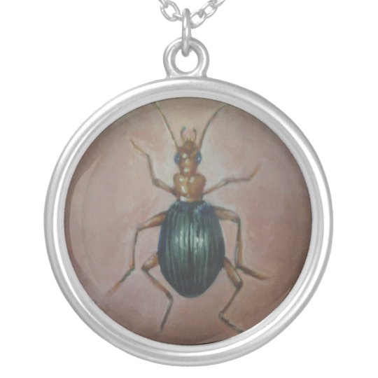 Bombardier Beetle Silver Plated Necklace