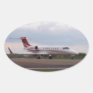 Bombardier Lear Jet 45XR Oval Sticker