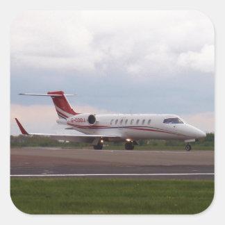 Bombardier Lear Jet 45XR Square Sticker