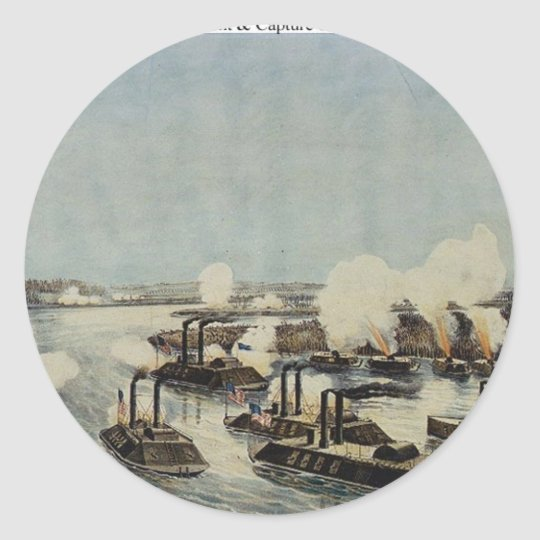 Bombardment and Capture of Island Number Ten Classic Round Sticker