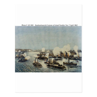 Bombardment and Capture of Island Number Ten Post Card